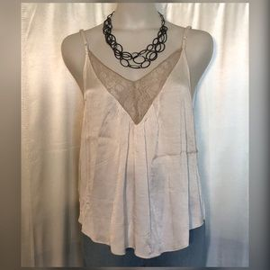 American Eagle lacy/satin tank